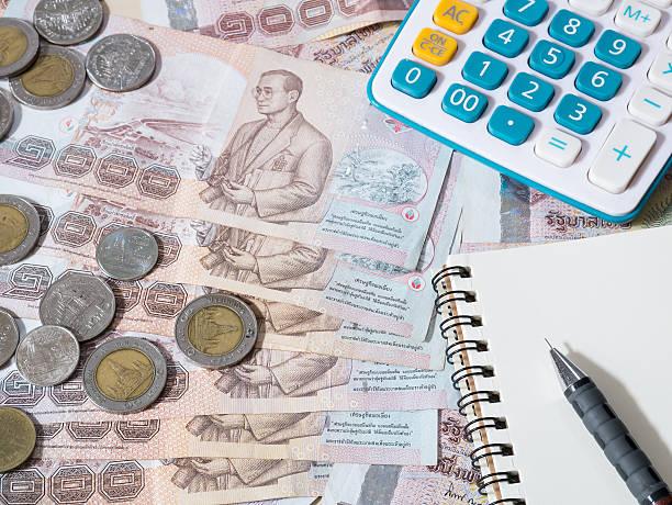 Thai money -  Thai baht currency stock photo