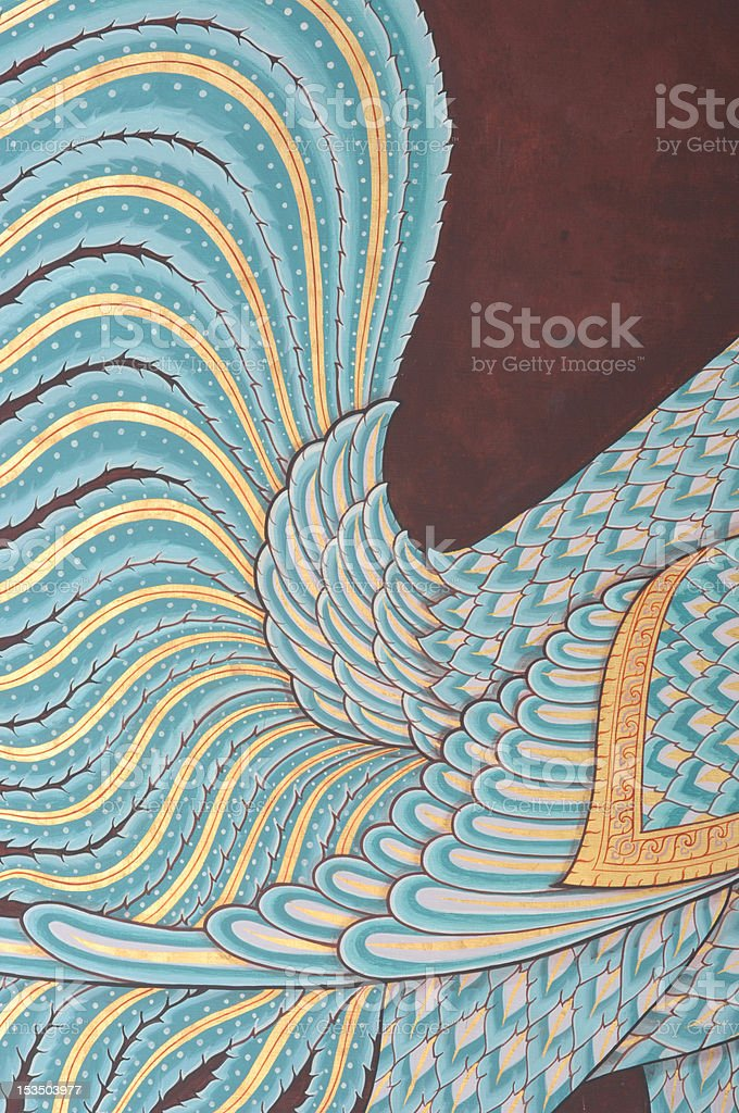 thai mural painting royalty-free stock photo