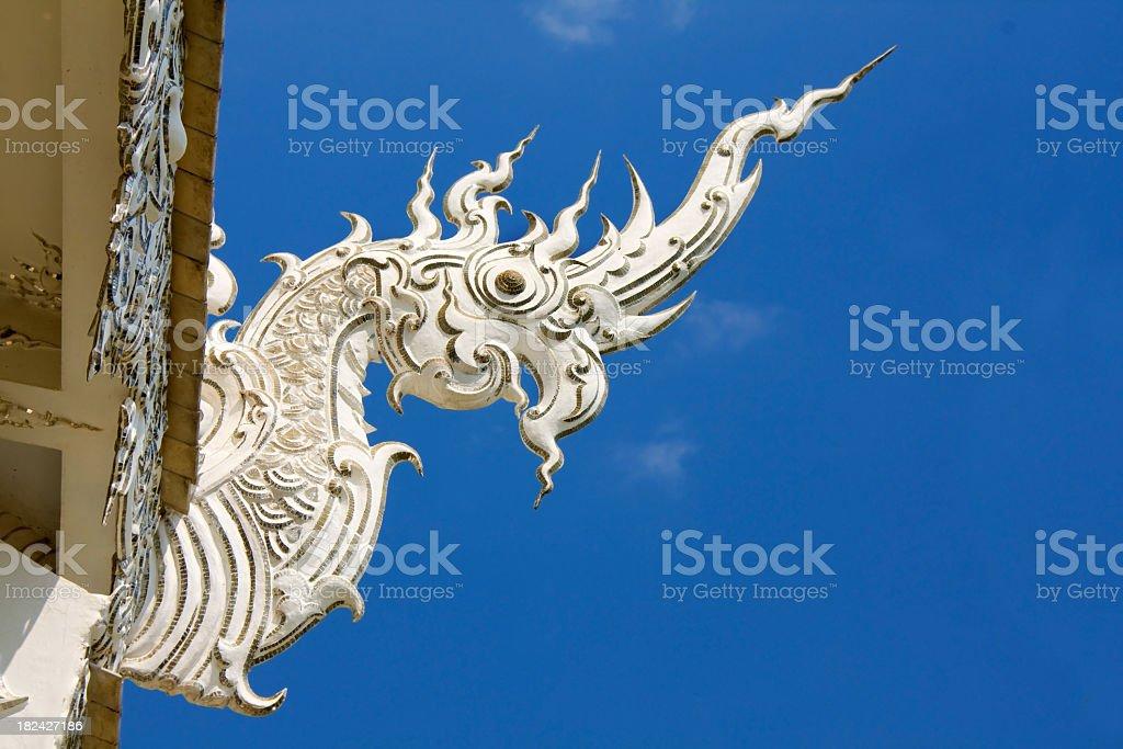 Thai nagas head royalty-free stock photo