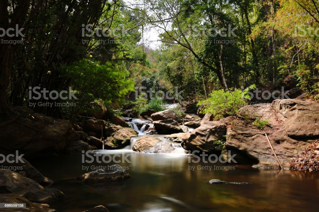 Thai national park Waterfall foto stock royalty-free