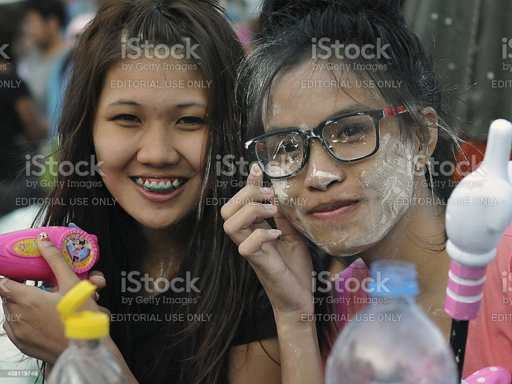 Thai New Year Celebrations royalty-free stock photo