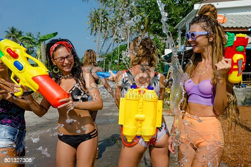 istock Thai New Year or Songkran 801327308