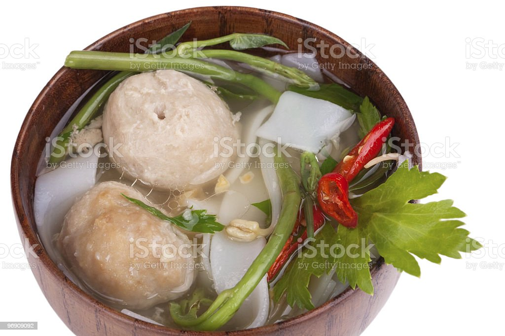 Thai noodle soup royalty-free stock photo