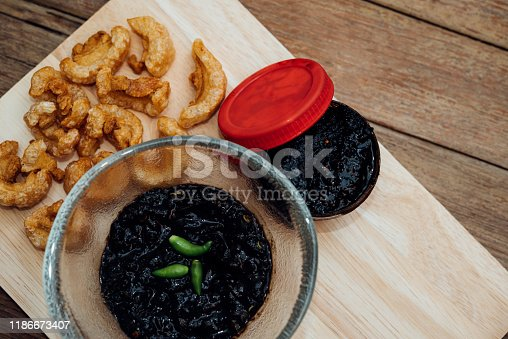 istock Thai northern Crab Paste Chilli Pepper Sauce 1186673407