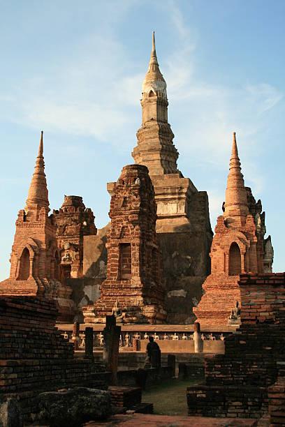 Thai  old city  (Sukhothai Historical Park) stock photo