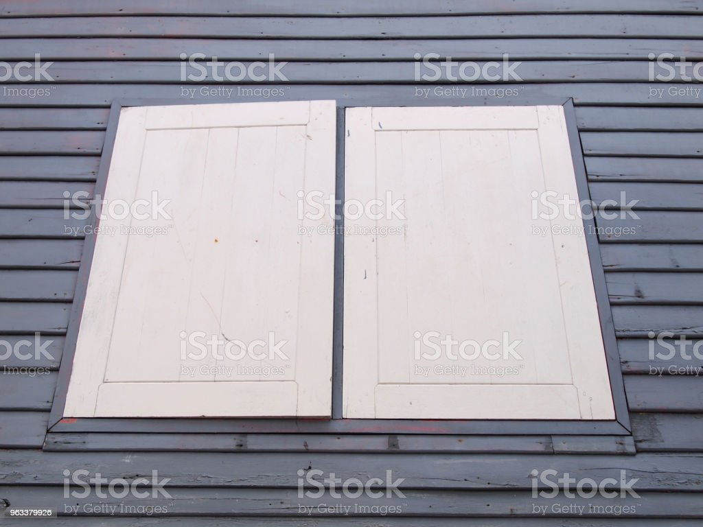Thai old wooden window - Zbiór zdjęć royalty-free (Architektura)