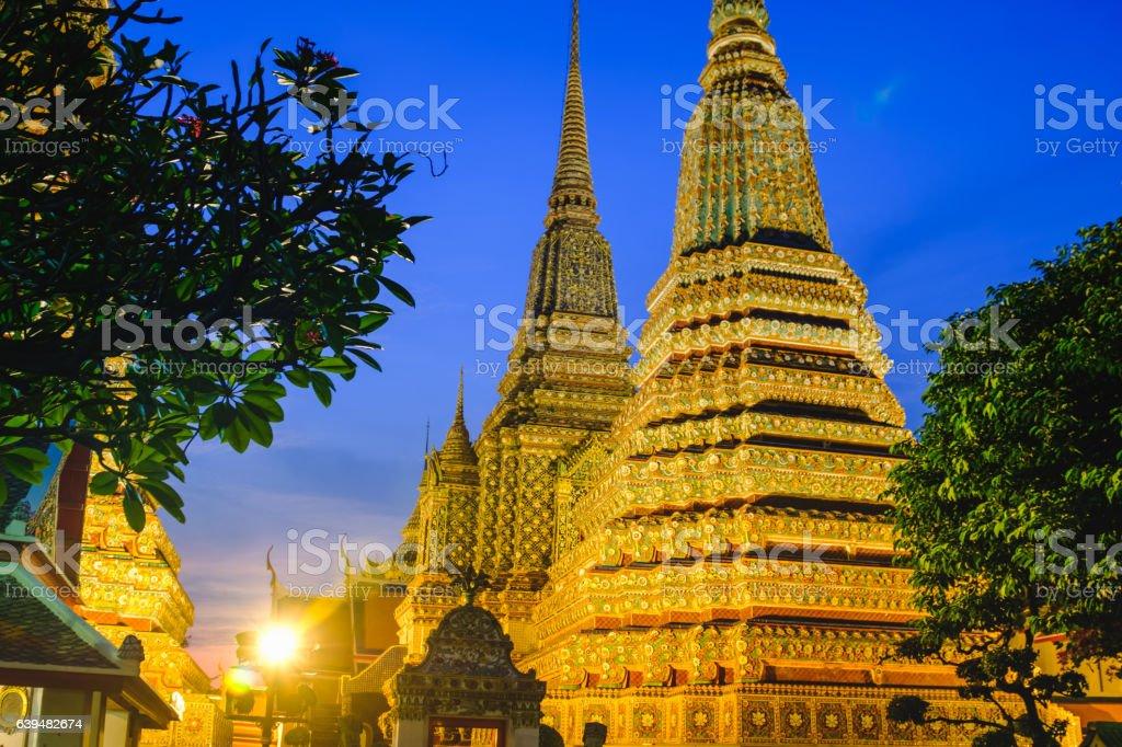 Thai Pagoda art architecture. stock photo