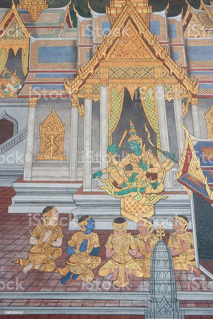 thai painting royalty-free stock photo