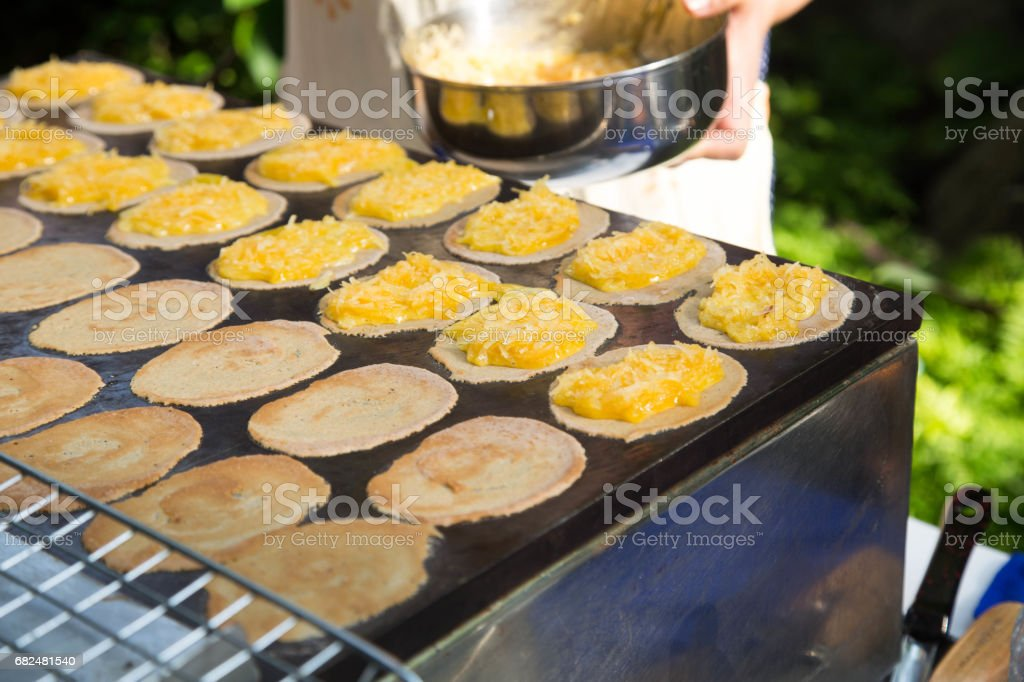 Thai pancakes royalty free stockfoto