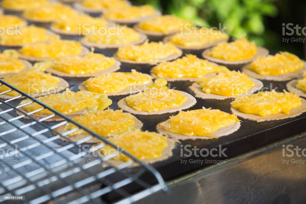Thai pancakes royalty-free stock photo