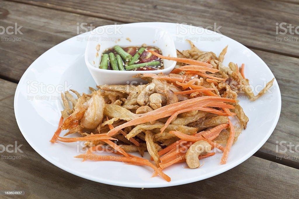 Thai papaya salad , Som Tum from Thailand royalty-free stock photo