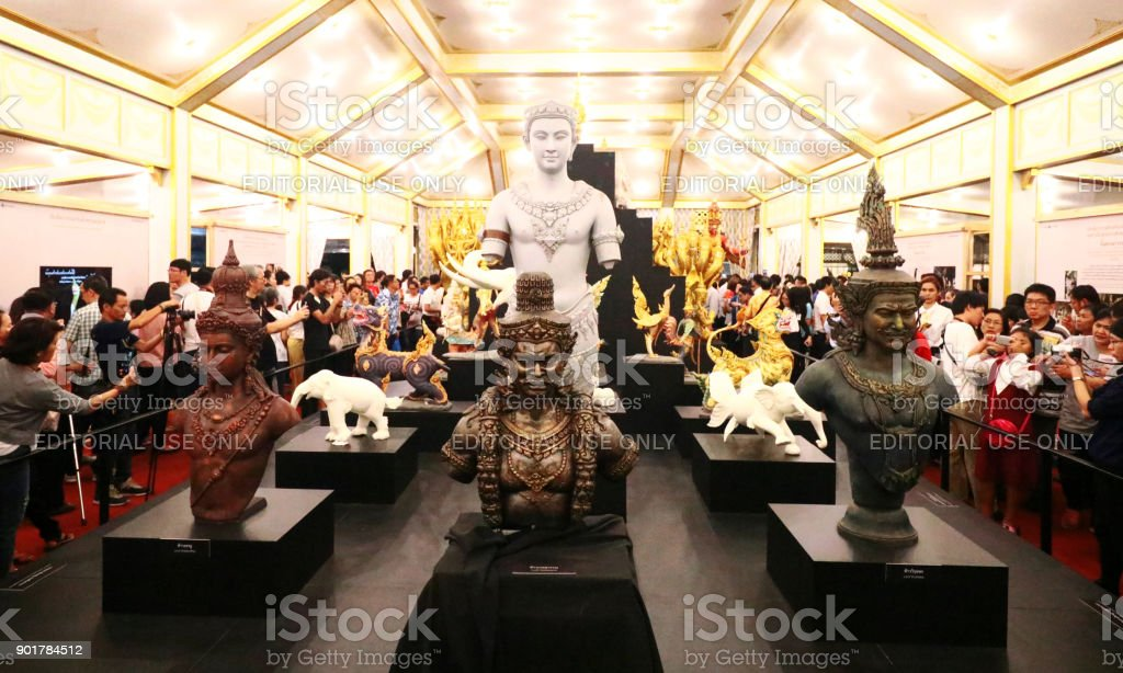 Thai people visit in The Royal Crematorium stock photo
