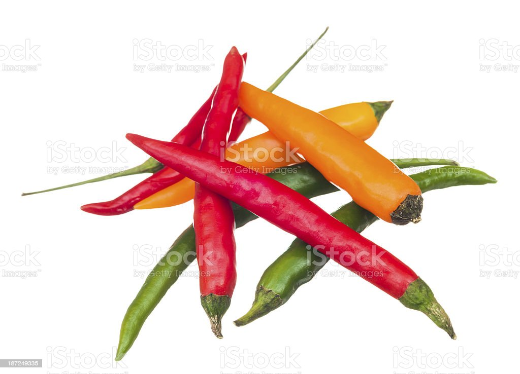 Thai peppers stock photo
