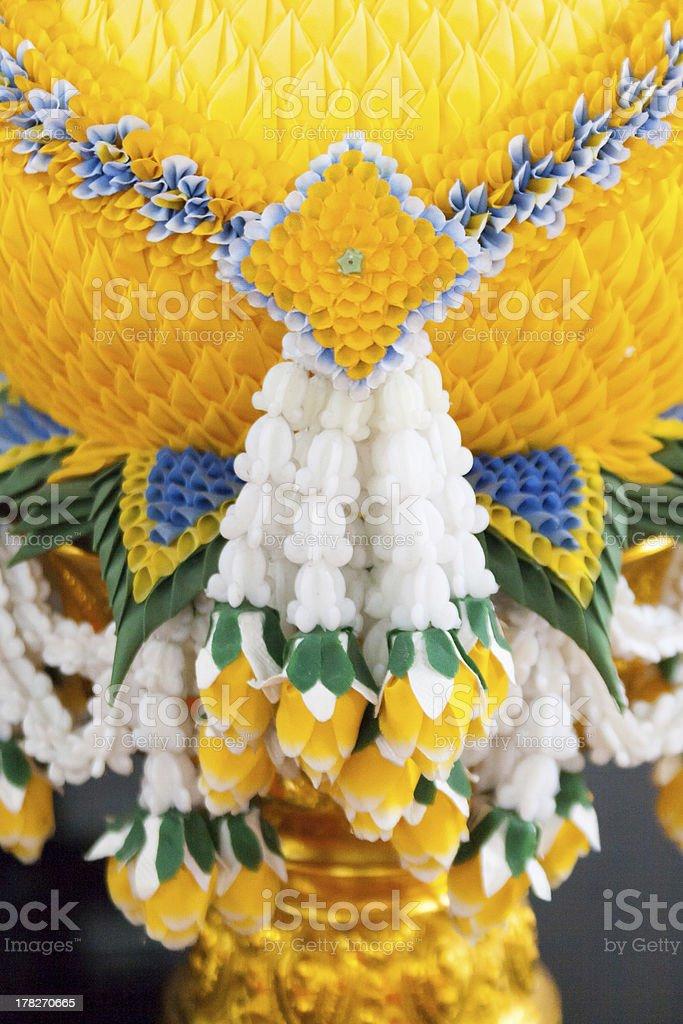 Тайский пластиковые Венок из цветов malai Стоковые фото Стоковая фотография