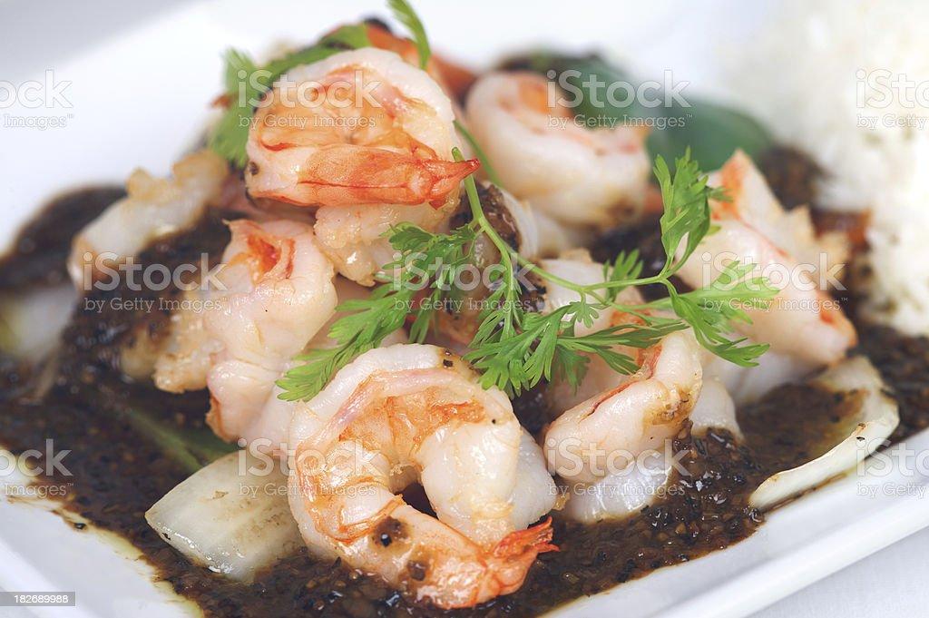 Thai Prawn dish stock photo