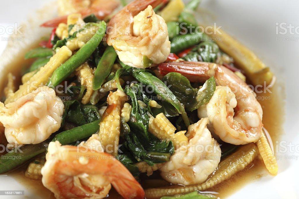 Thai prawn dish royalty-free stock photo