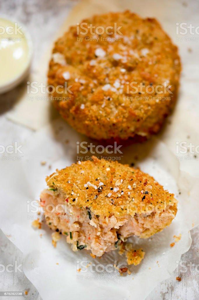 Thai prawn fishcakes stock photo