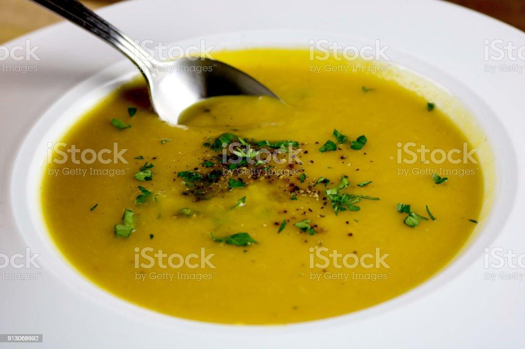 Thai Pumpkin Soup stock photo