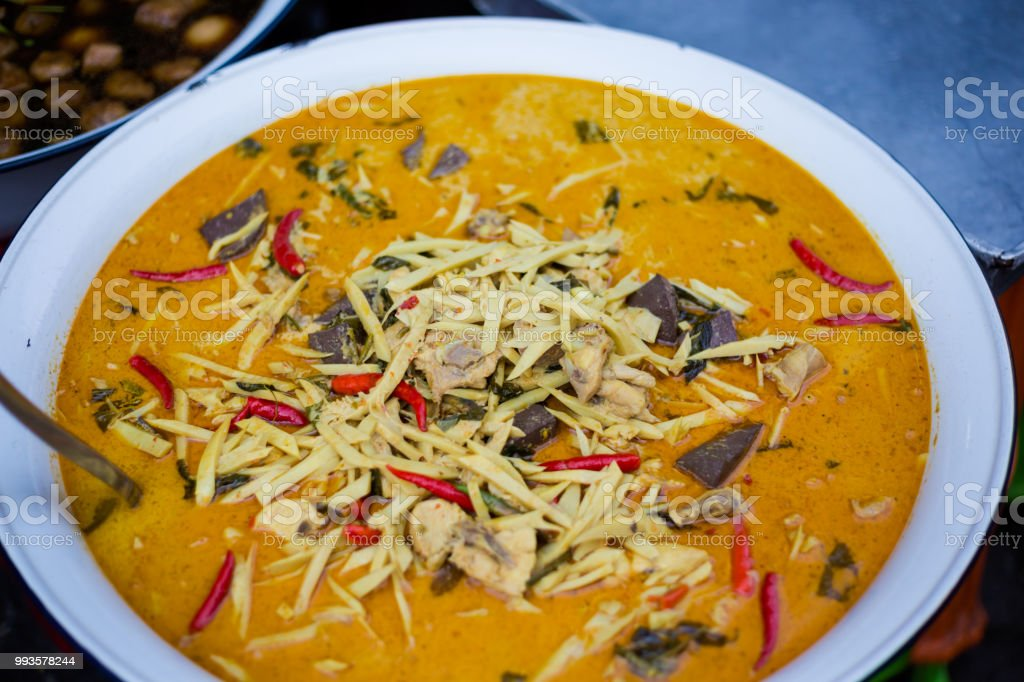 e4e8c742 Thai Red Curry With Chicken Stock Photo & More Pictures of Asia | iStock