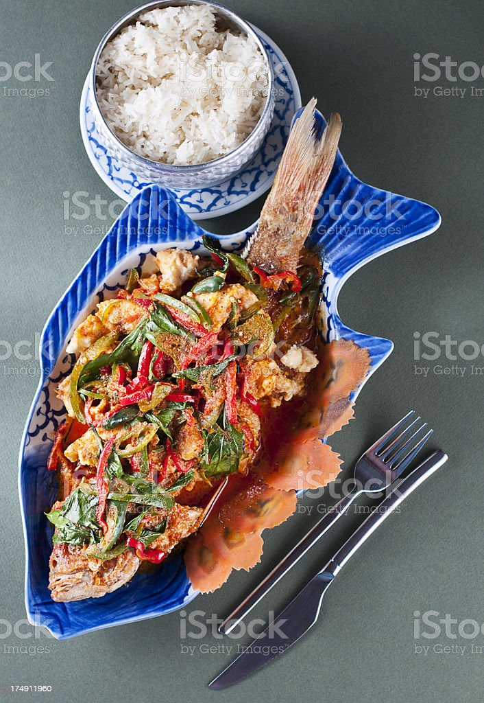 Thai Red Snapper royalty-free stock photo