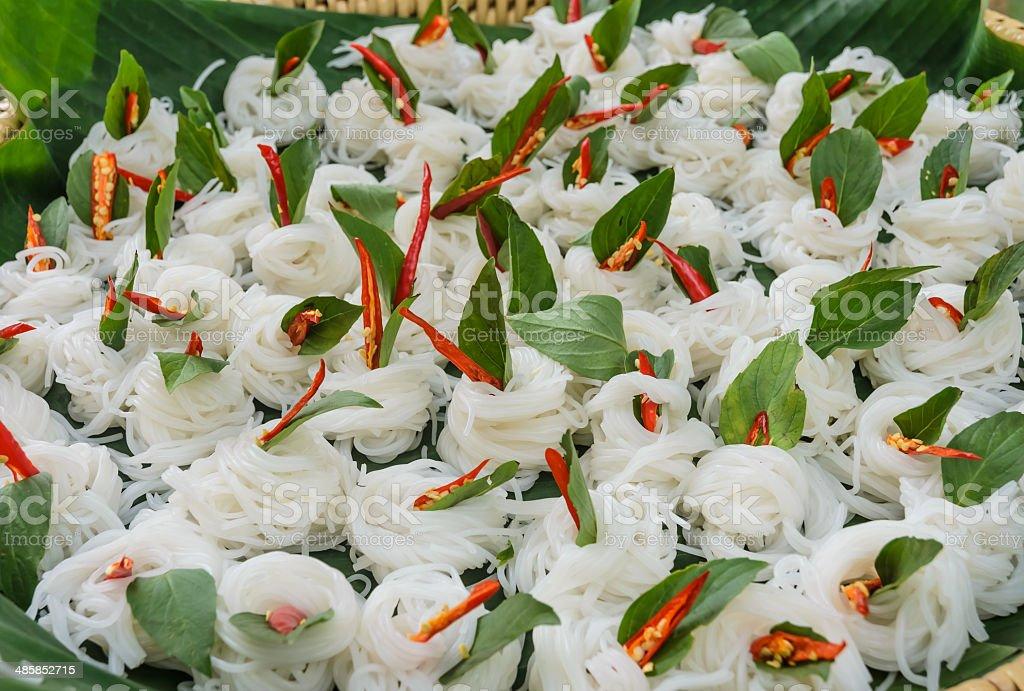 Thai rice noodle stock photo