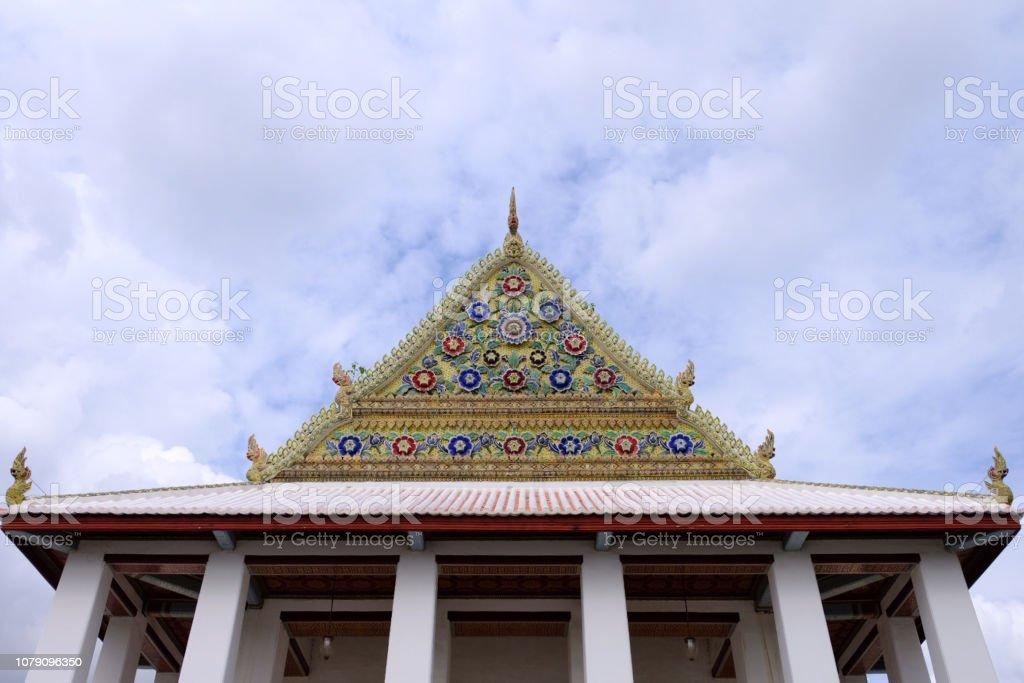 Royal Thai Royal Sanctuary Gable from Wat Chaloem Phra Kiat Worawihan...