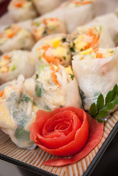 Thai Salad Rolls stock photo