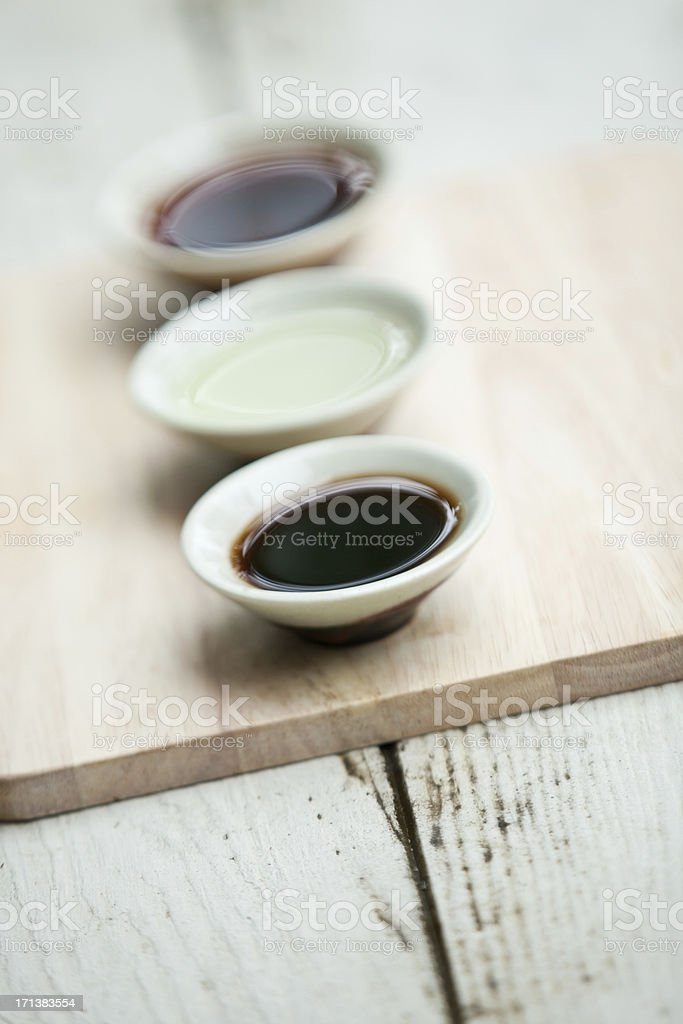Thai Sauces Ingredients for Asian Cooking, Recipes, Cuisine stock photo