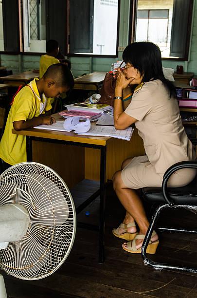 Thai escuela día - foto de stock