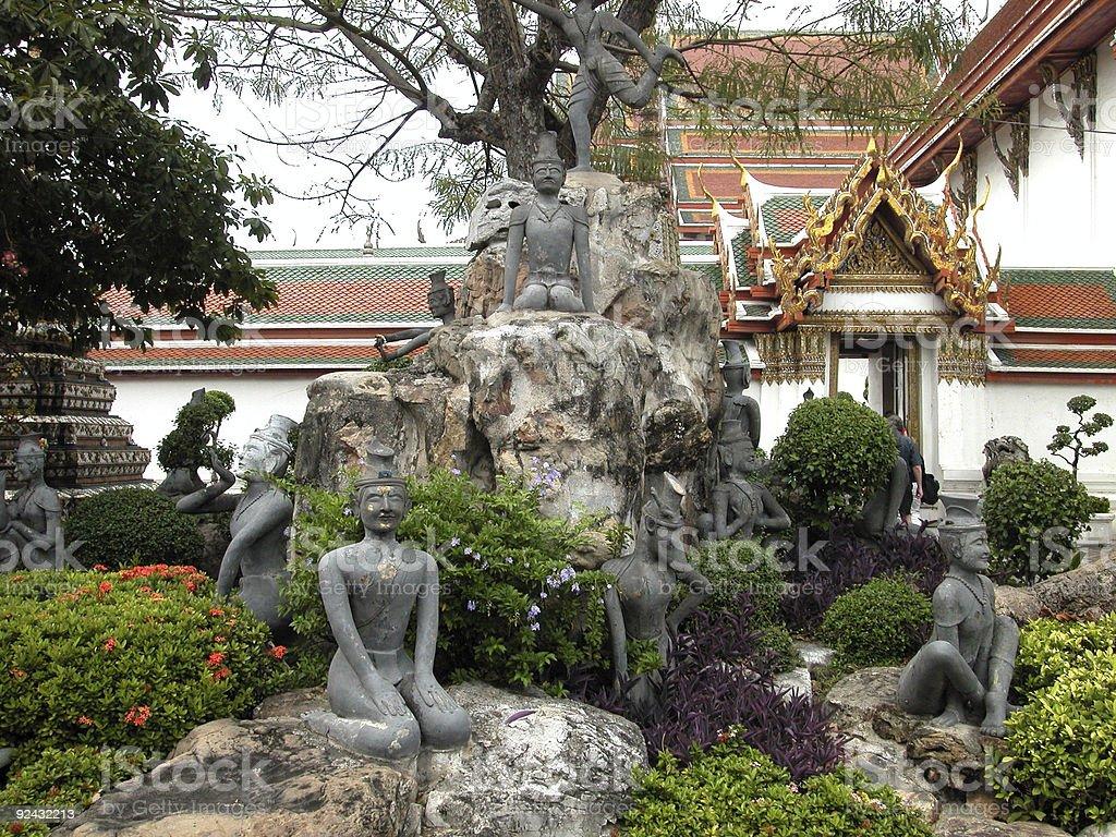 Thai sculpture royalty-free stock photo