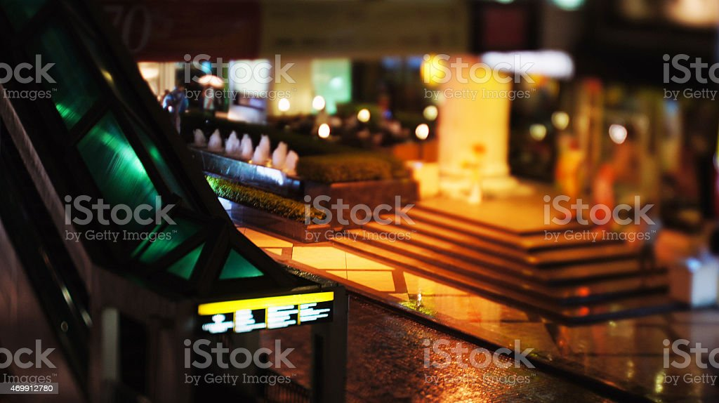 Thai Shopping Mall closed down on a stormy day stock photo