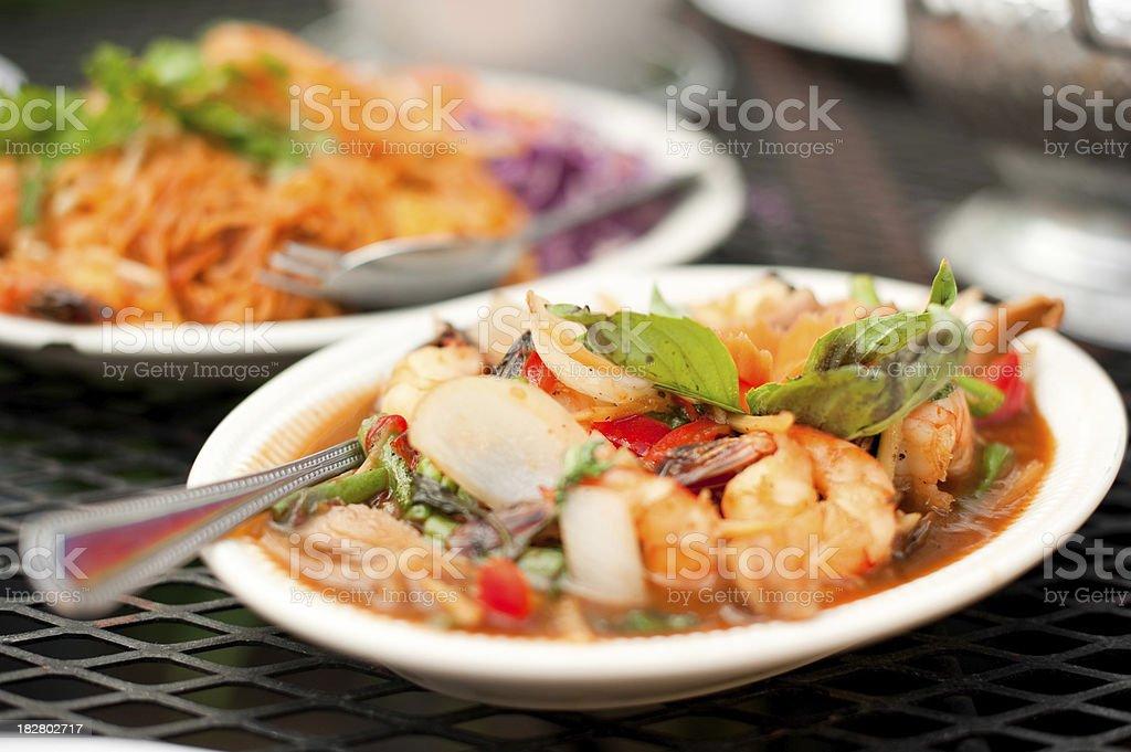 Thai Shrimp Dish royalty-free stock photo