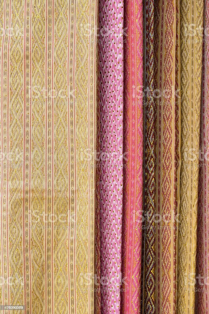 Thai silk cloths royalty-free stock photo