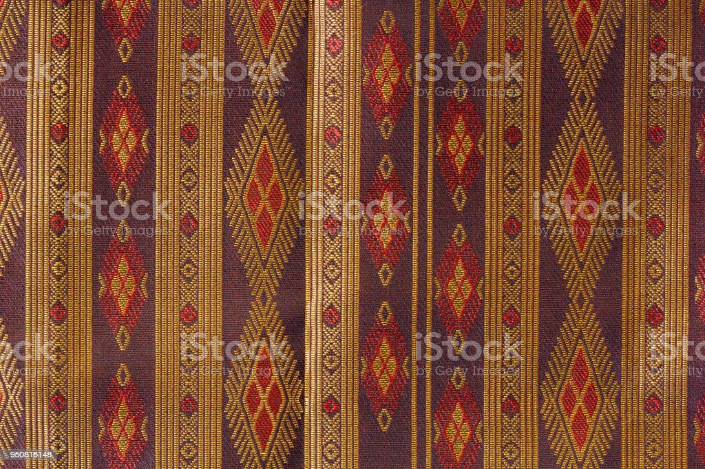 Thai silk  pattern,Thailand textile style stock photo