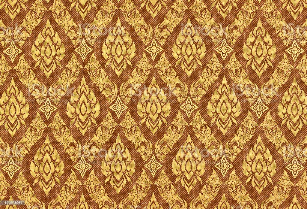Thai silk traditional motif background. stock photo