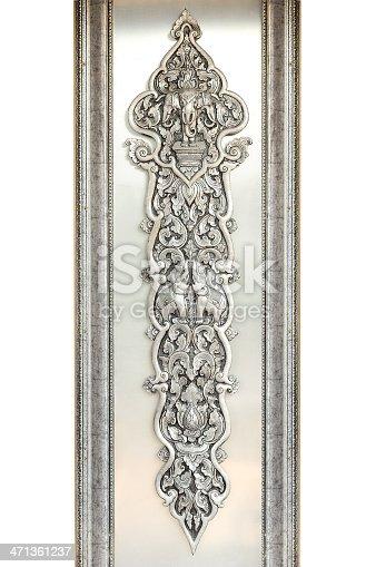 istock Thai silver handicraft. 471361237