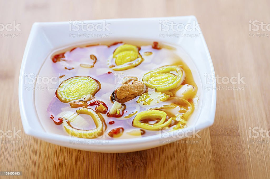 Thai soup Tom Yam royalty-free stock photo