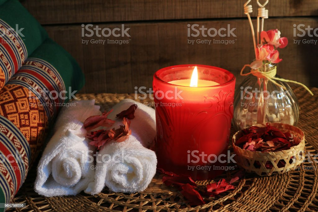 Thai spa massage set royalty-free stock photo