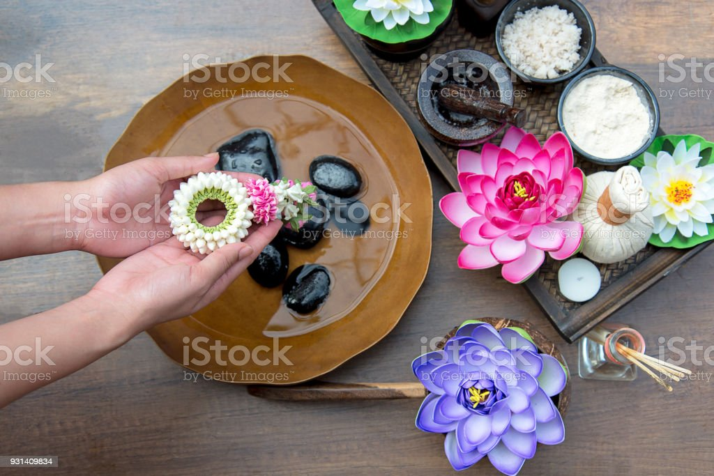 Thai Spa Treatment And Product For Female Feet And Manicure Nails