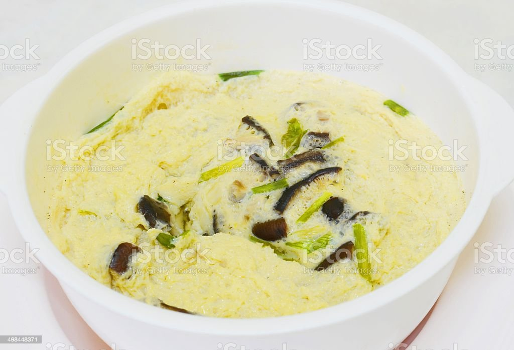 Thai Steamed Egg stock photo