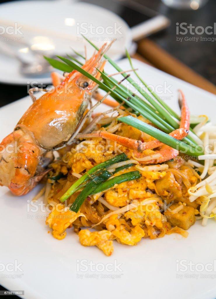 Thai stir-fried rice noodles (Pad Thai) royalty-free stock photo