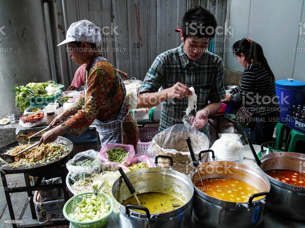 Thai Street Food, Bangkok, Thailand stock photo