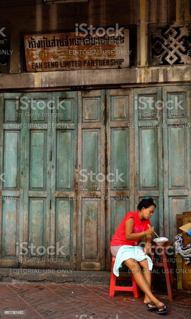 Thai Street Food, Chinatown, Bangkok, Thailand stock photo