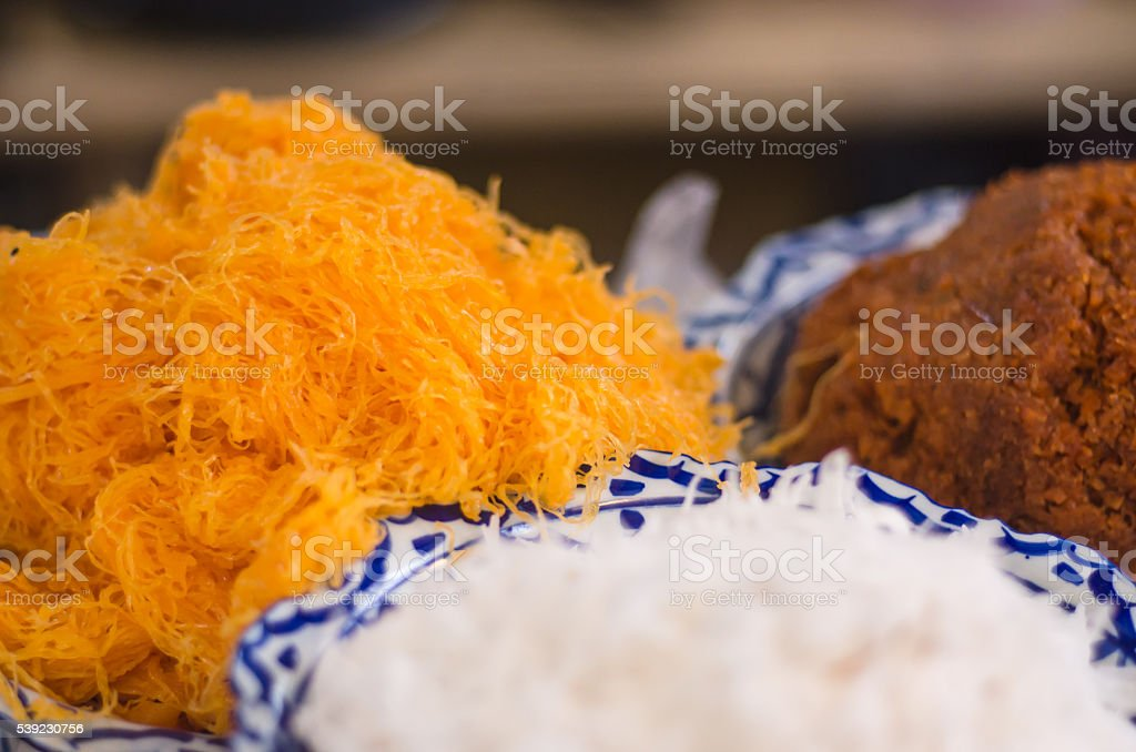 tailandés de la calle alimentos blandos enfoque de la imagen foto de stock libre de derechos