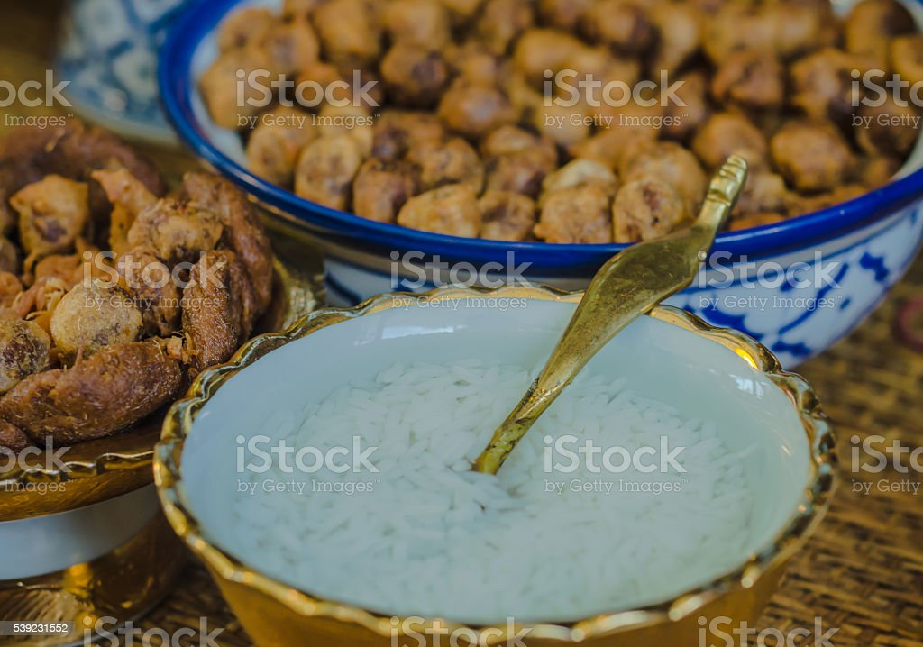 Thai street food Soft-focus image royalty-free stock photo