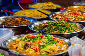 Thai food on the street is popular and sell well, not less than Pad Thai and Tom Yum Shrimp are various curries.