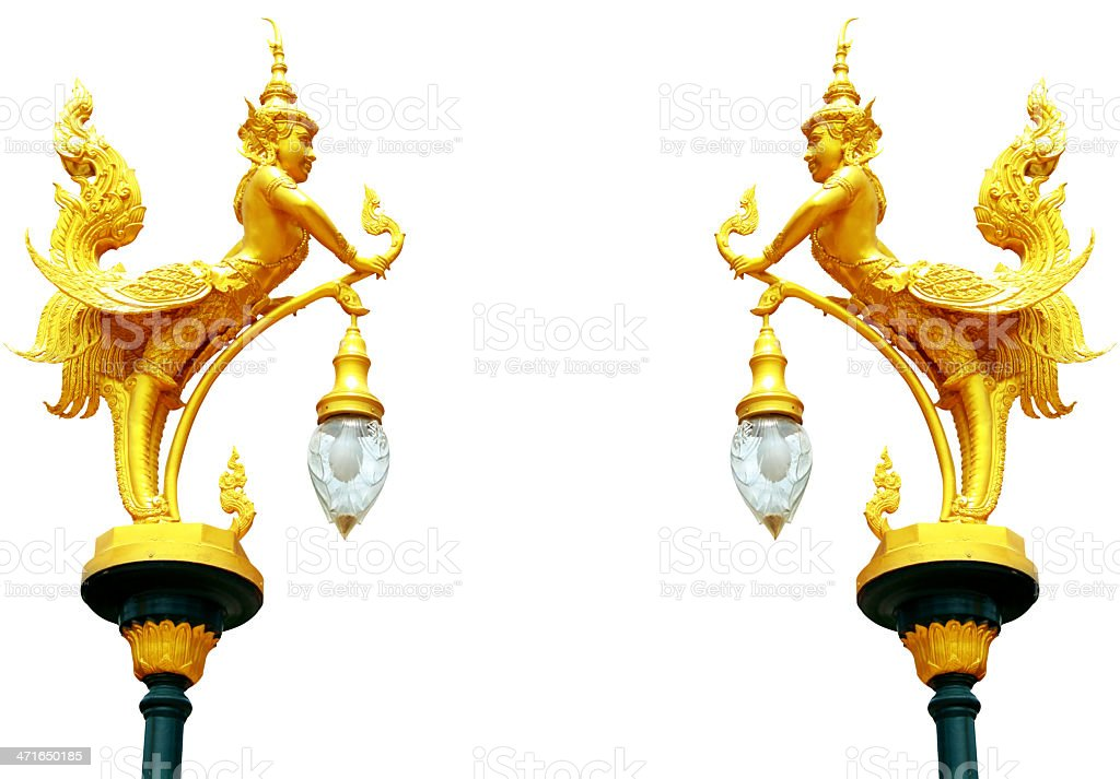 Thai style angel statue royalty-free stock photo