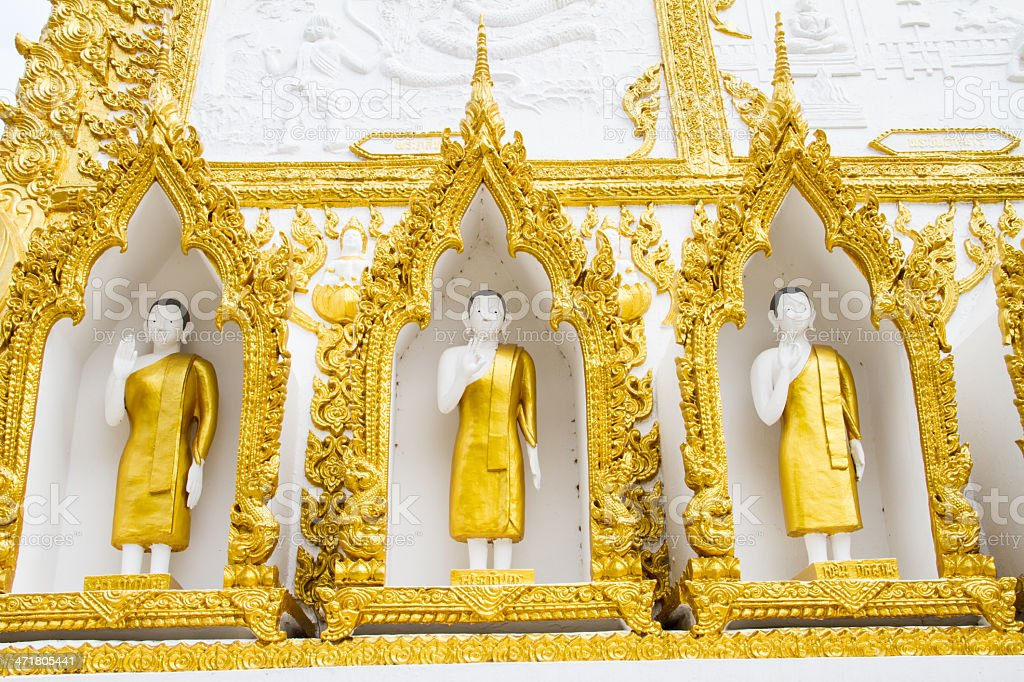 Thai style art temple, Wat Phrathat Nong Bua, Thailand royalty-free stock photo