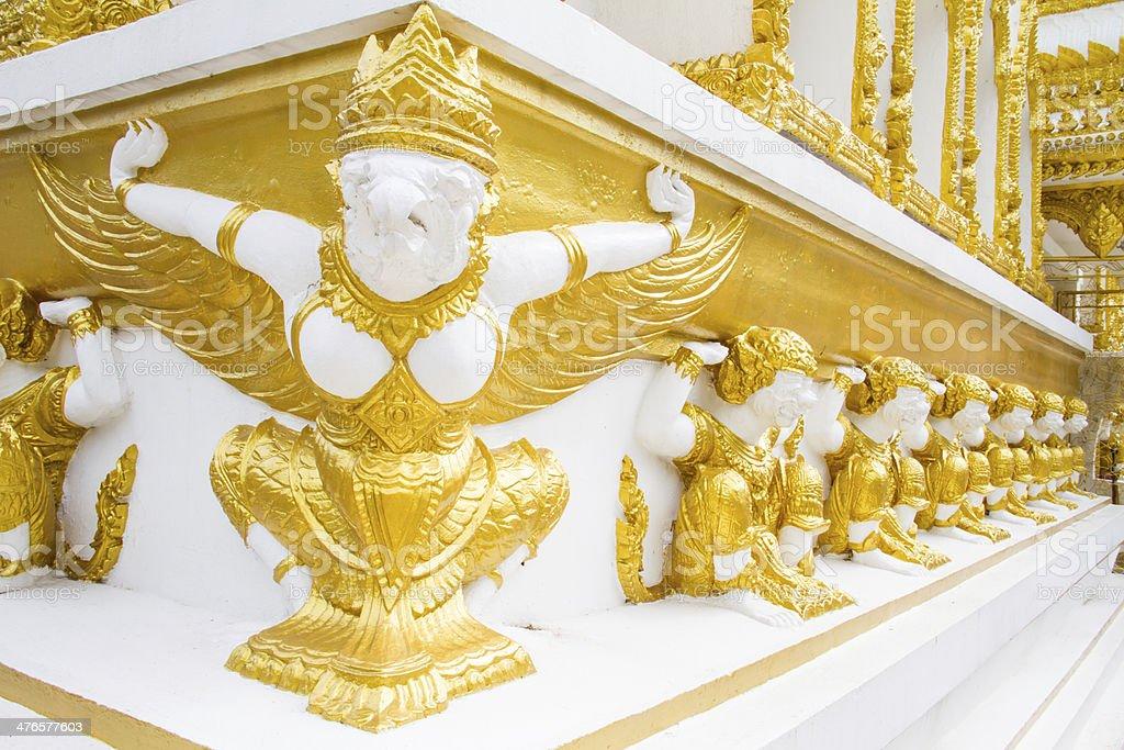 Thai style art temple, Wat Phrathat Nong Bua, Thailand royalty-free stock photo