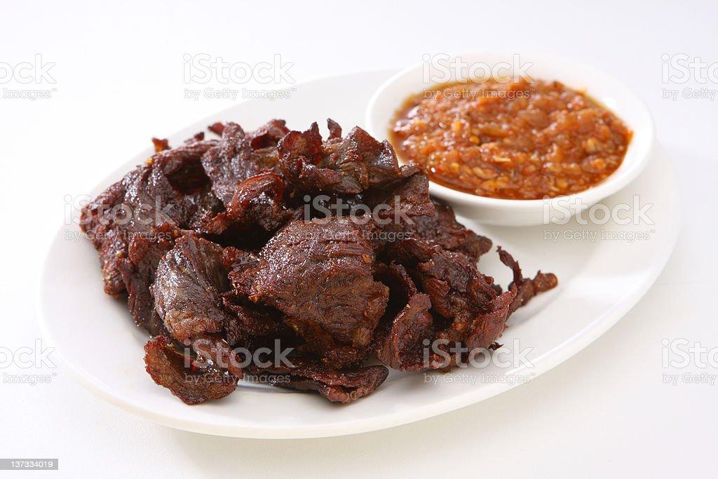 Thai Style Beef Jerky royalty-free stock photo